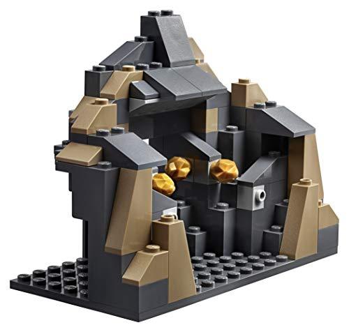 LEGO City - Mina Perforadora Pesada, Juguete Creativo de Construcción de Vehículo Minero para Niños y Niñas de 5 a 12 Años, Incluye Minifiguras y Araña que Brilla en la Oscuridad (60186)