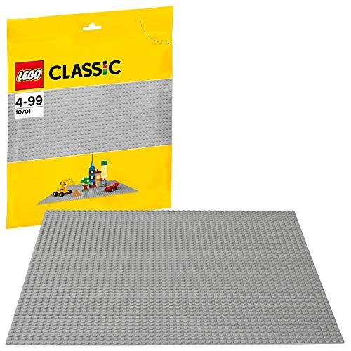 LEGO Classic - Base de Color Gris, Juguete de Construcción que Mide 38 Centímetros de Lado para Complementar tus Sets y Juegos (10701)