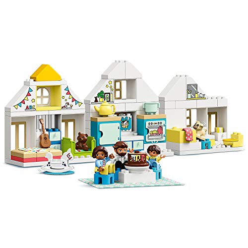 LEGO DUPLO Town - Casa de Juegos Modular, Set 3 en 1 Recomendado a Partir de 2 Años, Incluye Figuras de Animales y Personas de Juguete, Cuenta con 3 Plantas (10929)