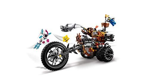 LEGO La LEGO Película 2 - Trimoto Metálica de Barbagris, imaginativo juguete de construcción con vehículo y minifiguras de Dulce Caos y Benny (70834)