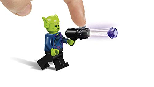 LEGO Marvel Super Heroes - Capitana Marvel Ataque de los Skrulls, Nave de juguete para construir inspirado en la película (76127)