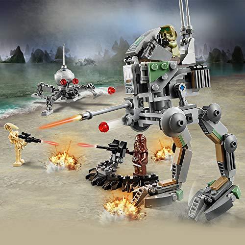 LEGO Star Wars - Caminante Explorador Clon (Edición 20 Aniversario), Juguete de Construcción de Scout Walker, Incluye un Caminante AT-RT (75261)