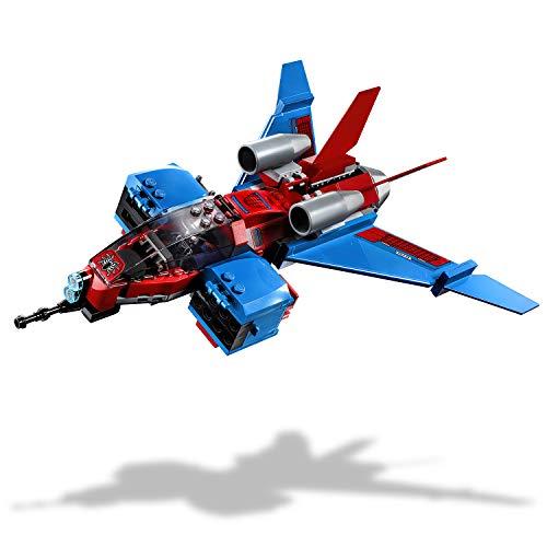 LEGO Super Heroes - Jet Arácnido vs. Armadura Robótica de Venom, Juguete de Construcción Inspirado en el Universo Marvel, Incluye Minifiguras de Spider-man y Spider-man Noir (76150)