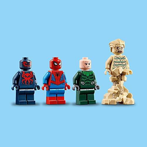 LEGO Super Heroes Reptadora de Spider-Man, juguete de construcción para recrear las aventuras del Superhéroe, incluye un vehículo con forma de Araña y varios villanos (76114) , color/modelo surtido