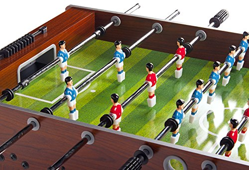 Leomark Futbolín de Mesa futbolines Classic, Mesa de Madera para Jugar al futbolín, Dimensiones: 122 x 61 x 79(A) cm