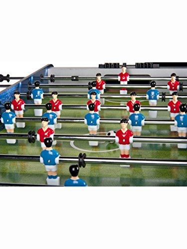 Leomark Futbolín De Mesa Madera Futbolines Fútbolista Deporte Patada Champions, Dimensiones: 122 x 61 x 83 (A) cm