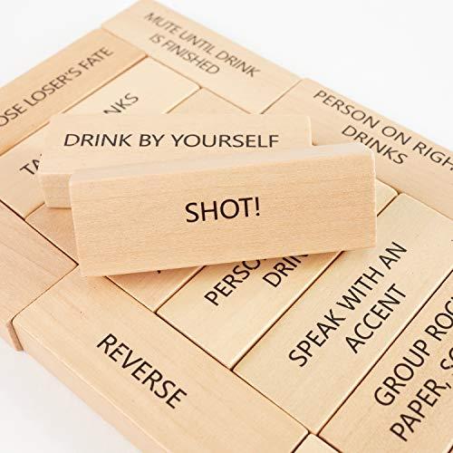 Lewo 54 Piezas Juegos de Beber con 36 Reglas Diferentes y Juegos para Adultos Party Game