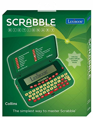 LEXIBOOK- Diccionario electrónico de Scrabble Deluxe, Color Blanco, Talla única (SCF-328AEN)