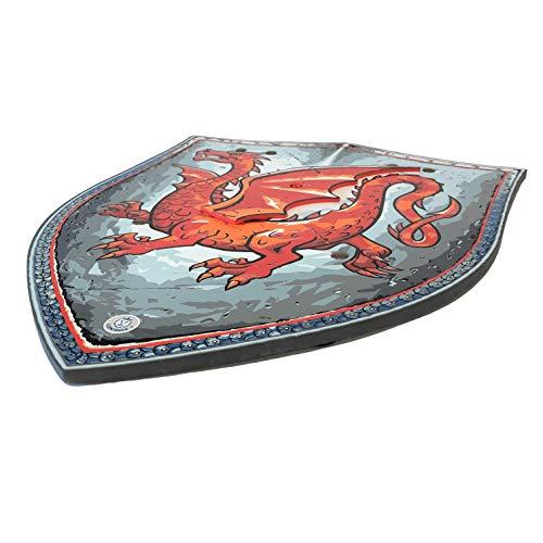 Liontouch 29301LT Escudo de Juguete de Espuma Caballero Dragón Ámbar para niños   Forma Parte de la línea de Disfraces para niños