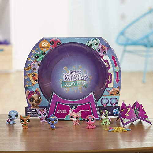Littlest Pet Shop Lucky Pets Bola de Cristal Megapack Sorpresa Juguete para Mascotas, a Partir de 4 años