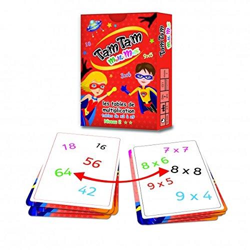 Lote de 2 juegos Tam Tam: Safari Nivel 2 + MultiMax Nivel 2 + 1 Regla Marcapáginas de madera Blumie.