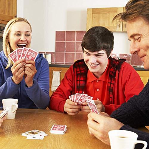 LotFancy Baraja Cartas Poker Clásica 12 Barajas Playnig Cards Standard Tamaño por el Blackjack, Euchre, Los Corazones, Incluso al Solitario (6Azules & 6Rojos)