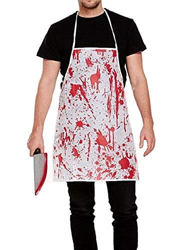 Lovelegis Delantal de Carnicero Zombie - Manchas de Sangre - Asesino - Disfraz - Disfraz - Carnaval - Halloween - Cosplay - Accesorios - Hombre - Mujer - Idea de Regalo para cumpleaños