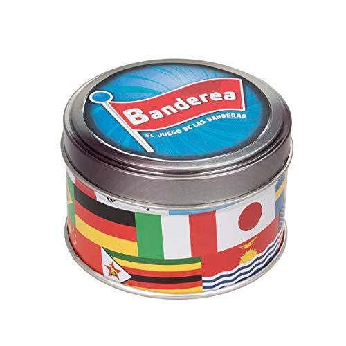 Lúdilo- Banderea, Banderas del Mundo, Mesa para niños, Viaje, Juego Cartas Agilidad Mental, Educativo, Juguete en Familia (80894)