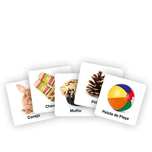 LUDILO Slapzi, Juego Educativo para niños, Muy Divertido para Jugar en Familia o Amigos, sé el más rápido en Encontrar la Carta de Imagen, Velocidad y percepción 80956
