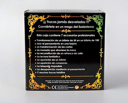 MAGIC SECRET - Caja de Magia para Adultos - Mentalismo e ilusionismo - +35 Trucos de Magia Profesionales - a Partir de 9 años - 60 vídeos explicativos (App) + 5 Accesorios + Entrenamiento