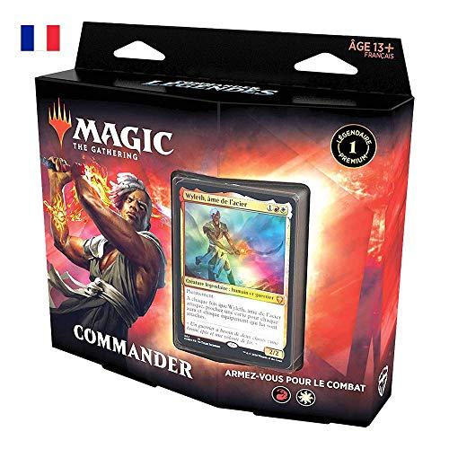 Magic The Gathering Commander Leygendes - Arma para el Combate | Deck de 100 Cartas Listas para Jugar | 1 Comandante Premium | Rojo y Blanco C78591010
