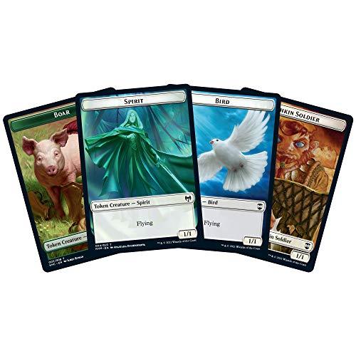 Magic: The Gathering Kaldheim Commander, Phantom Premonition (100 Cartas Listas para Jugar) Blanco-Azul
