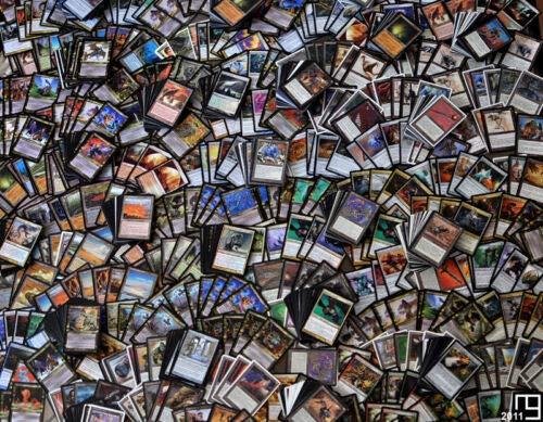 Magic The Gathering Lote de Cartas 500 comunes,100 infrecuentes y 5 Raras (en Castellano)