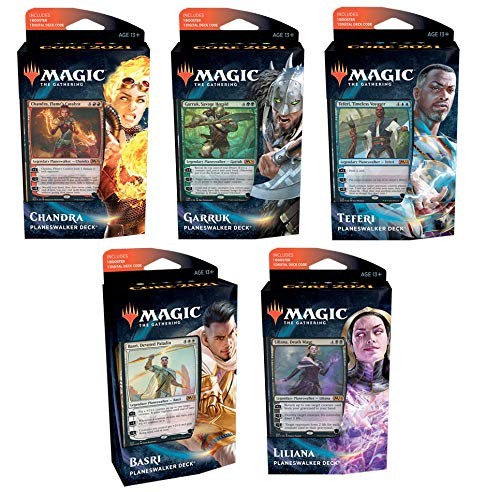 Magic The Gathering MTG-M21-PD-EN Magic: The Gathering-2021 - Juego de 5 mazos para Planeswalker