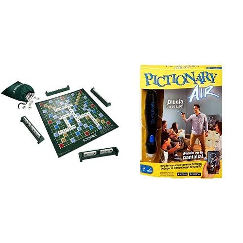 Mattel Games Scrabble Original, Juego de Mesa para Adultos y para niños a Partir de 10 años + Pictionary Air, Juego de Mesa en español