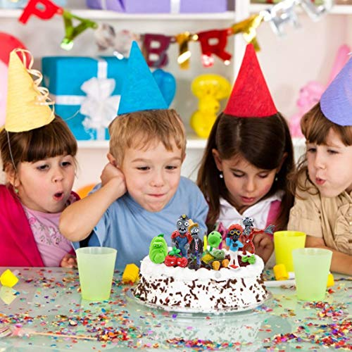 Mini Juego de Figuras Decoración para Tartas YUESEN 8pcs Plantas de contra Zombies Caricatura Cake Topper Mini Juguetes Baby Shower Fiesta de cumpleaños Pastel Decoración Adorno de Torta