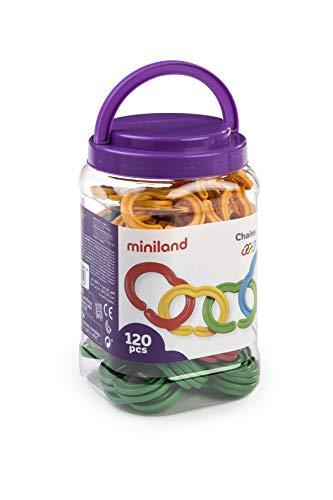 Miniland- Juego de Cadenas, Multicolor (31712)
