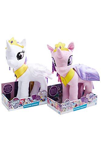 MLP Las Princesas de Peluche My Little Pony Celestia y Cadence con Corona y alas de 35 cm, Juego de 2 Figuras de Peluche, Peluches para niños