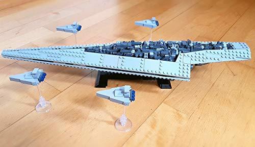 Modbrix Juego de 1185 bloques de construcción con diseño de estrella imperial, 56 cm, 1185