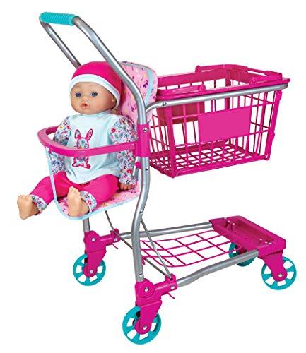 Molly Dolly - Carro de Juego y Cesta para niños 2 en 1 - Carro de Juego para niños de 3 años en adelante