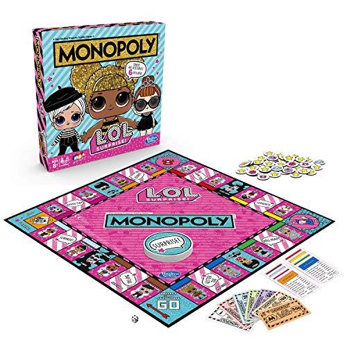 Monopoly Game: L.O.L. ¡Sorpresa! Juego de mesa para niños de 8 años en adelante (Inglés)