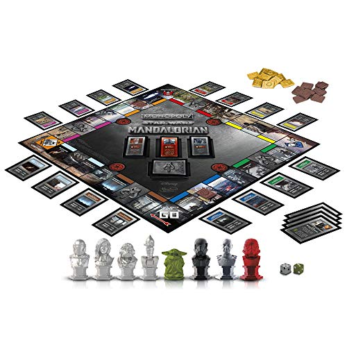 Monopoly: Star Wars The Mandalorian Edition Juego de Mesa, Protege al niño (Baby Yoda) de los Enemigos imperiales