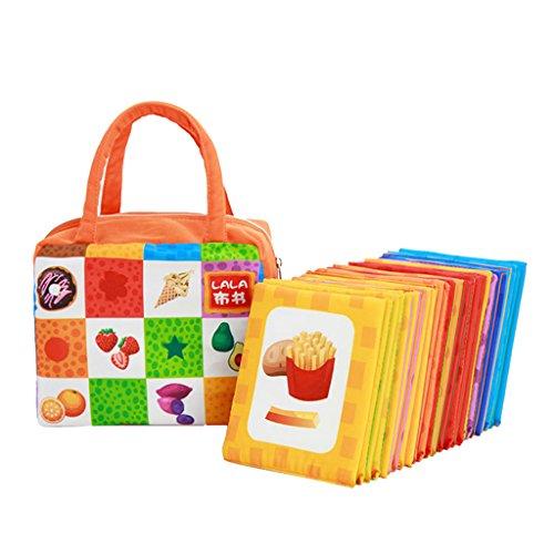 Montessori Toy 26Pcs Tarjeta De Aprendizaje Bebé Niño Juguete De Desarrollo Temprano - # 4 Animal y número, 12x11cm - # 2 Comida y Color, 12x11cm