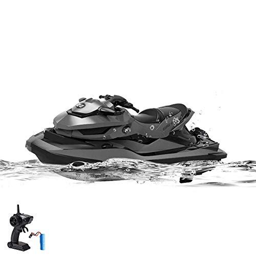 Moto acuática de control remoto, barco, modelo de lancha rápida de alta velocidad y alcance, incluyendo control remoto de 2.4GHz, batería y cable de carga