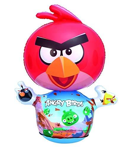 MovilCom® - Tentempié Inflable Figura Animales niños Hinchable tentetieso Interior Juguete Angry Birds 31cm