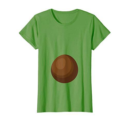 Mujer Disfraz de aguacate Disfraz de Halloween del embarazo Camiseta