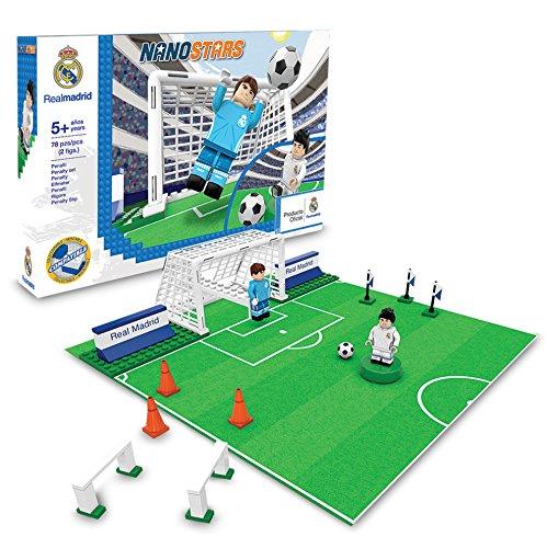 NANOSTARS, Bloques Compatible Penalty Set Standard de Real Madrid Juegos de construcción Multicolor, 2 Figuras, 78 Piezas
