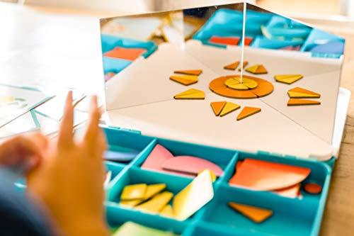 Nathan- J'Aprends la simetría – Juego Educativo de reproducción de Formas a Partir de 5 años, Multicolor (31106)