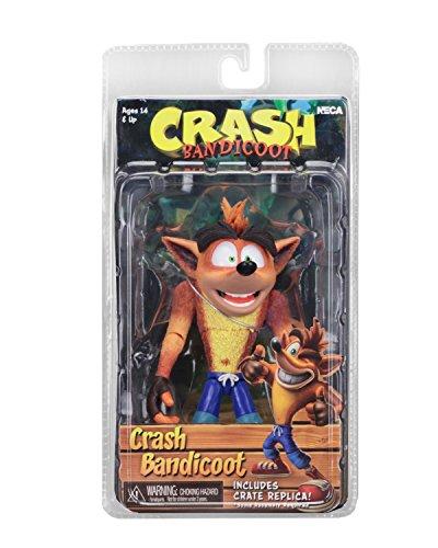 NECA 41050 Crash Bandicoot Figura de acción, Multicolor
