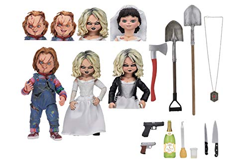 NECA- Chucky, el muñeco diabólico Pack 2 Figuras Ultimate Chucky & Tiffany, Multicolor (NECA42114)