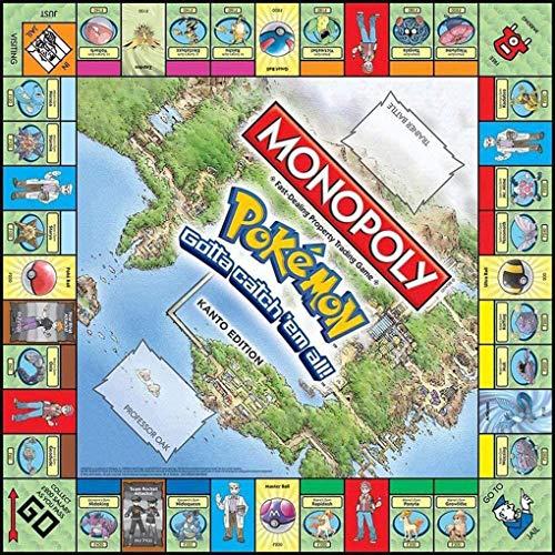OPW Monopoly Pokemon Juego De Mesa Monopoly Pokémon Family Deck Juegos De Cartas Juegos Multijugador para Fiestas Juego De Estrategia con Fichas Juguetes para Adultos Y Niños (Versión En Inglés)