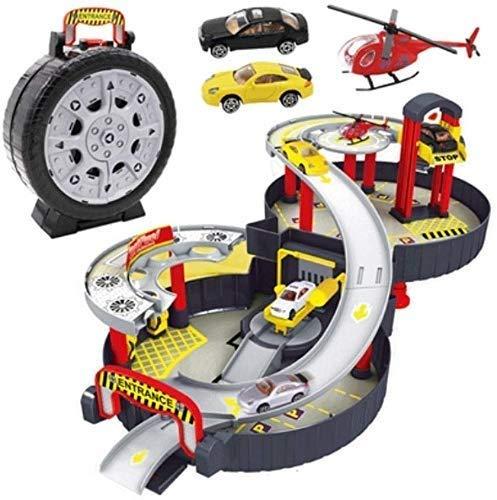Paelf Pista tridimensional de dos pisos, Padre-niño juguetes interactivos para juegos de juego de juegos de juguetes de juego de juguetes de juego de juguetes remotos para niños 8-12, coche de juguete