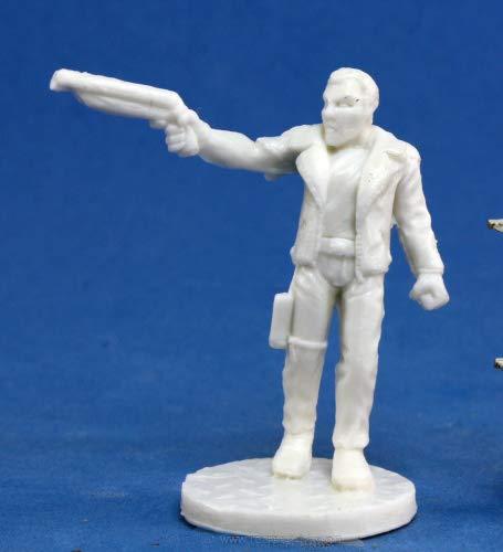 Pechetruite 1 x Rex Dark Future Hero Chronoscope - Reaper Bones Miniatura para Juego de rol Guerra - 80009