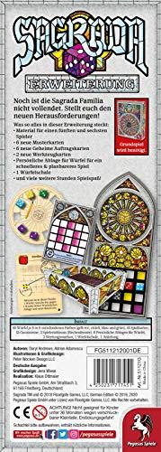 Pegasus Spiele GmbH- Sagrada - Ampliación, Color incoloro (51121G)