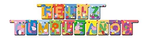 Peppa Pig - Guirnalda feliz cumpleaños (Verbetena 016000728)