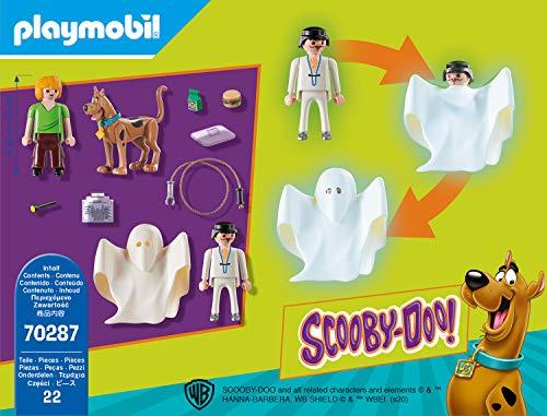 PLAYMOBIL Scooby DOO! 70287 Scooby & Shaggy con Fantasma, A Partir de 5 Años