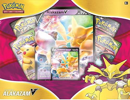 Pokémon - Estuche Alakazam 4 Boosters - Juego de Cartas coleccionables