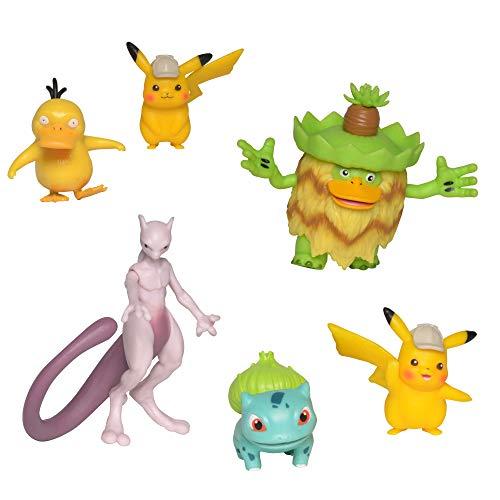 Pokemon Pack de 6 Figuras Detective Pikachu (BIZAK 63227602) , color/modelo surtido