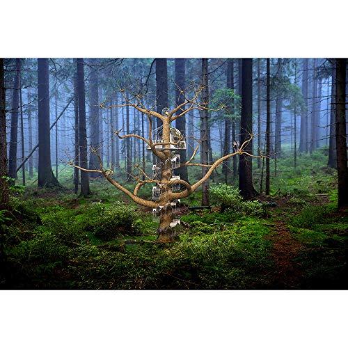 Puzzle Fairytale Fantasy Forest Villa 500-4000 Pieza del Rompecabezas For Los Adultos Jigsaw Niños del Juego Juega El Regalo Difícil Master Challenge 1012 (Size : 500 Pieces)