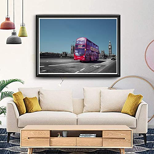 Puzzle Londres Big Ben Autobuses Jigsaw Caminos Y Cielos Regalos De Decoración De Sala De Estar 500/1000/2000/3000/4000/5000/6000 Piezas Master Challenge 1128